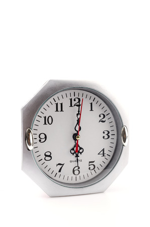 Clock isolated white background photo