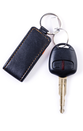 Car keys remote on isolated white background Standard-Bild