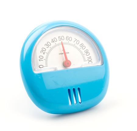 rain gauge: Higrómetro aislado fondo blanco Foto de archivo