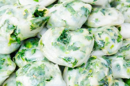 Garlic chives thai food Stock Photo - 27379397