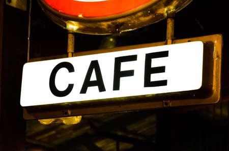 Cafe sign photo