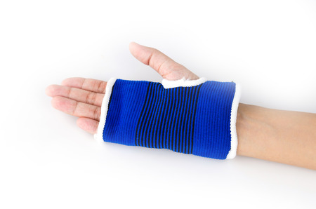 Wrist splint hand isolated white background Stock Photo - 27396050