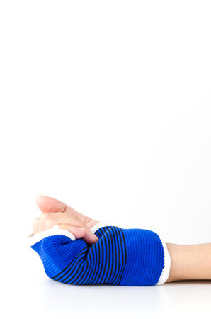 Wrist splint hand isolated white background Stock Photo - 27396052