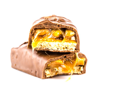 Chocolate bar isolated white background photo