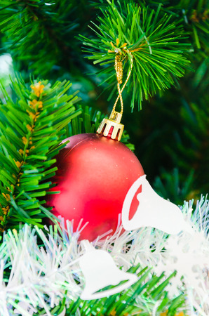 Decorate Christmas tree using as background Stock Photo - 27457105