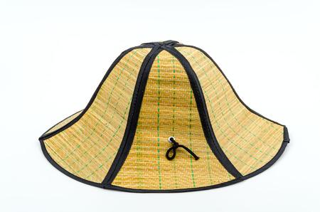 straw hat isolated white background photo