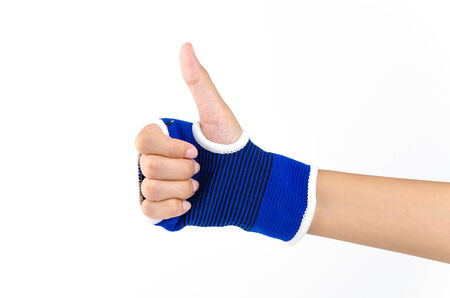 Wrist splint hand isolated white background Stock Photo - 27460477