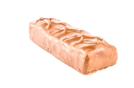 Chocolate bar isolated white background photo