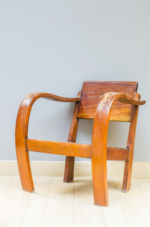 Wood chair table photo