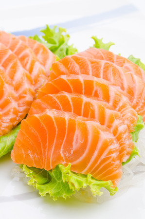 Salmon sashimi photo