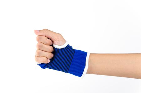 splint: Wrist splint hand isolated white