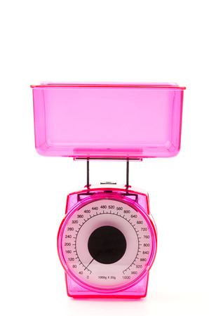 Isolated Kitchen scales photo