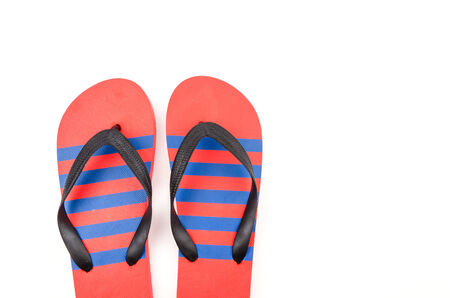 Isolated flip flop photo