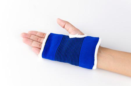 Wrist splint hand isolated white background photo