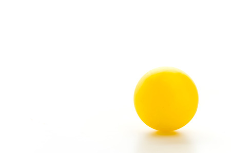 Color ball isolated white background photo
