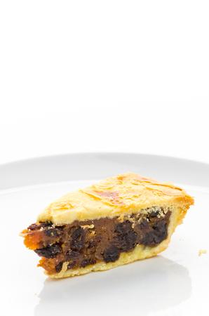 Apple pie isolated on white background photo