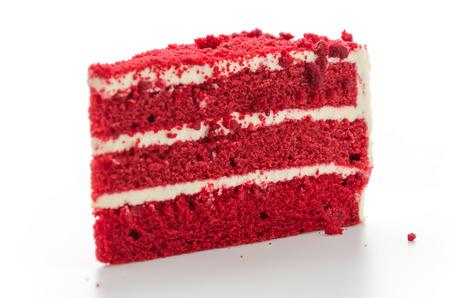 red velvet cupcake: Red velvet cake isolated on white background Stock Photo