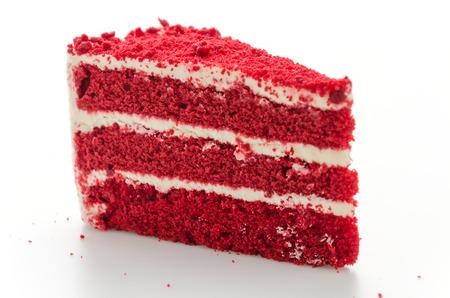 Red velvet cake isolated on white background Stock Photo