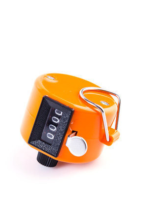 Tally Counter sur fond blanc isol� photo