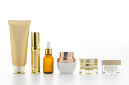 serum: Cosmetics bottle isolated on white Stock Photo