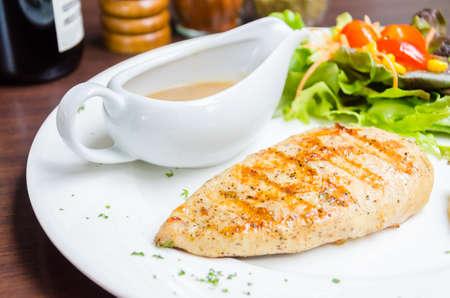 Grilled chicken breast photo