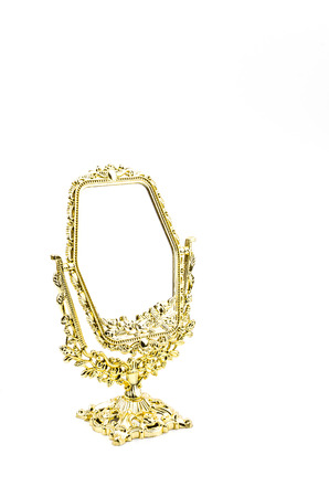 Mirror isolated white background photo