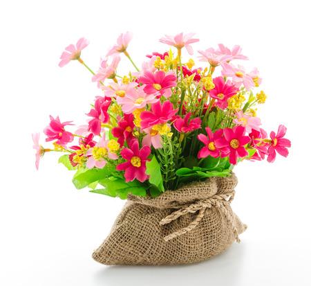 Strauß Blumen auf weiß isoliert Standard-Bild - 28114586