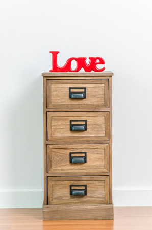 Love on bedside table photo