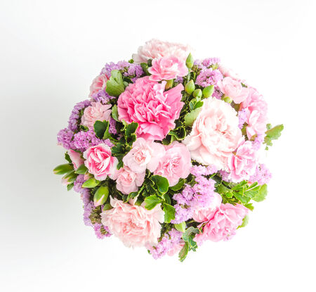 Bouquet isolated on white photo
