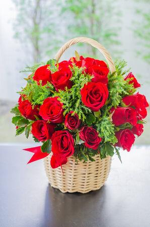 Rose basket photo