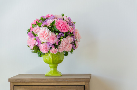 Bouquet in vase photo