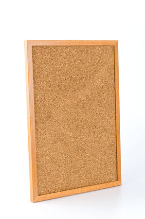 Cork board isolated white background photo