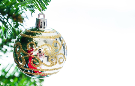 Decorate Christmas tree using as background Stock Photo - 28461321
