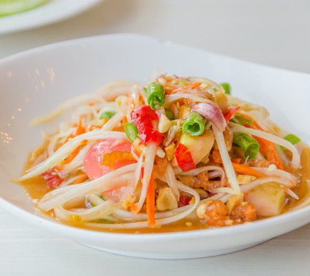 green papaya salad photo