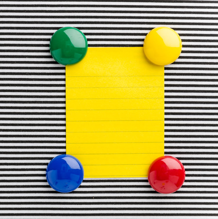 Magnet paper note Stock Photo