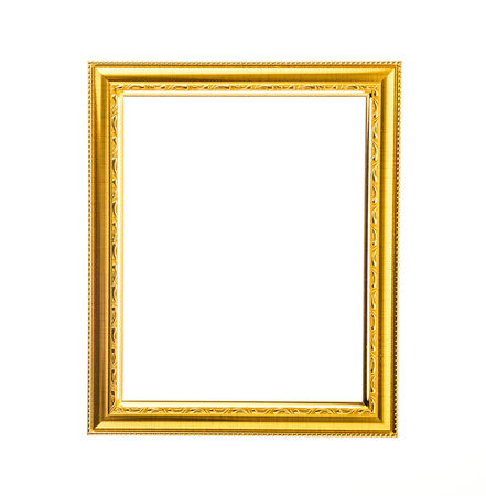Frame isolated on white photo