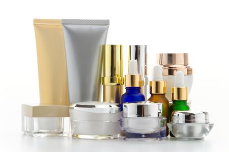 Cosmetics bottle isolated on white Imagens
