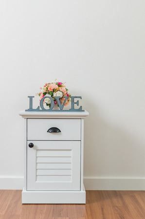 Love sign on bedside table photo