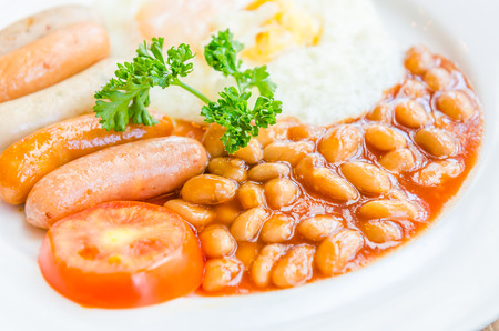 baked beans: English breakfast