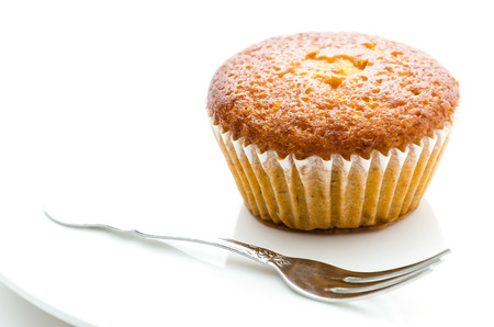 Banana muffin cake photo