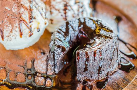 Chocolate lava cake photo