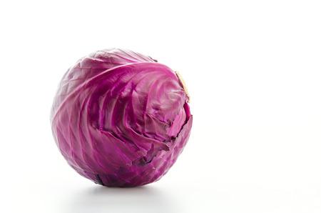Cabbage isolated on white photo