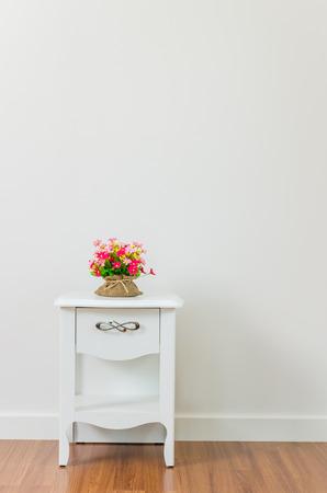 bedside: Flower on bedside table