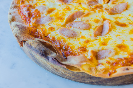 Sausage pizza photo