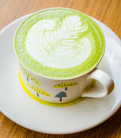 Green tea latte photo