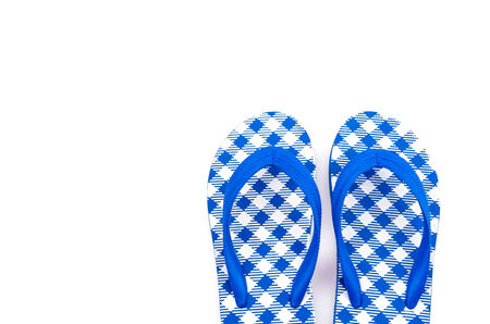 Flip flops isolated white background photo