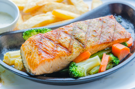 Salmon grilled photo
