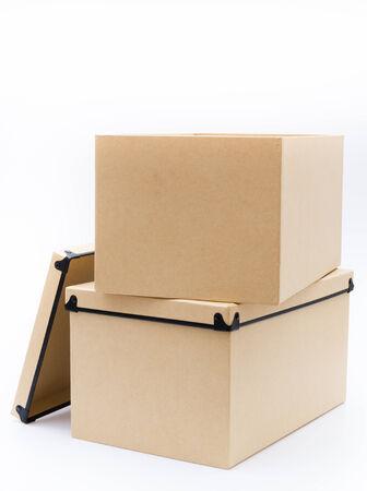 Empty box on white background photo