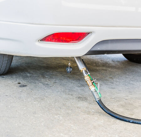 fill up: Fuel gas in car