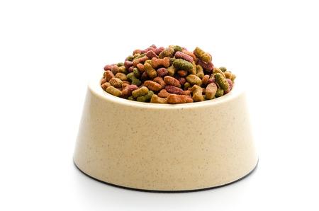 Dog food isolated on white photo